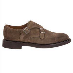 Cachemire Italy doucal's shoes men's brown suede
